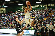Vermont's Anthony Lamb (3) leaps for a lay up during the men's basketball game between the Dartmouth Big Green and the Vermont Catamounts at Patrick Gym on Wednesday December 7, 2016 in Burlington (BRIAN JENKINS/for the FREE PRESS)