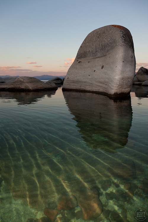 """Boulders at Lake Tahoe 12"" - These boulders were photographed in the early morning near Speedboat Beach, Lake Tahoe."