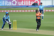 Tammy Beaumont of Southern Vipers batting during the Women's Cricket Super League match between Southern Vipers and Yorkshire Diamonds at the Ageas Bowl, Southampton, United Kingdom on 8 August 2018.