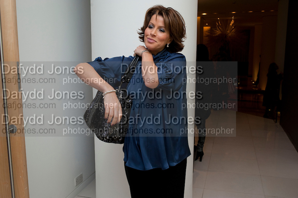 NATASHA KAPLINSKY, English National Ballet launches its Christmas season with a partyu before s performance of The Nutcracker at the Coliseum.  St. Martin's Lane Hotel.  London. 16 December 2009 *** Local Caption *** -DO NOT ARCHIVE-© Copyright Photograph by Dafydd Jones. 248 Clapham Rd. London SW9 0PZ. Tel 0207 820 0771. www.dafjones.com.<br /> NATASHA KAPLINSKY, English National Ballet launches its Christmas season with a partyu before s performance of The Nutcracker at the Coliseum.  St. Martin's Lane Hotel.  London. 16 December 2009