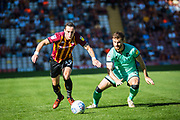 Dylan Connolly of Bradford City runs down the wing during the EFL Sky Bet League 2 match between Bradford City and Carlisle United at the Utilita Energy Stadium, Bradford, England on 21 September 2019.