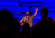 Musicians perform during Door Creek Church in Cottage Grove, Wisconsin, Sunday, Feb. 4, 2018.