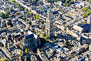 Nederland, Utrecht, Gemeente Utrecht, 30-09-2015; de Utrechtse binnenstad,  Domplein met Domtoren en Domkerk.<br /> Downtown Utrecht and city centre.<br /> luchtfoto (toeslag op standard tarieven);<br /> aerial photo (additional fee required);<br /> copyright foto/photo Siebe Swart