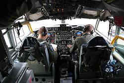 29.05.2015, Mildenhall, ENG, 100th ARW, Artic Challenge, USAFE, RAF Mildenhall, im Bild Im Cockpit einer KC 135 der USAFE // during an aerial refueling maneuver over Mildenhall, Great Britain on 2015/05/29. EXPA Pictures © 2015, PhotoCredit: EXPA/ Eibner-Pressefoto/ Neurohr<br /> <br /> *****ATTENTION - OUT of GER*****