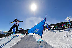 Snowboarder Cross Action, SIDES James, USA at the 2016 IPC Snowboard Europa Cup Finals and World Cup