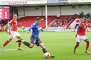 Bury's Craig Jones clears the danger during the Sky Bet League 1 match between Walsall and Bury at the Banks's Stadium, Walsall, England on 5 September 2015. Photo by Shane Healey.