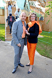 ANDREW ONRAET and MARIE-CLAIRE BARONESS VON ALVENSLEBEN at a party at the Serpentine Gallery, Kensington Gardens, London to unveil their summer Pavilion designed by Frank Gehry on 20th July 2008.<br /> <br /> NON EXCLUSIVE - WORLD RIGHTS