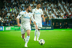 Dani Carvajal of Real Madrid and Casemiro of Real Madrid during the UEFA Champions League final football match between Liverpool and Real Madrid at the Olympic Stadium in Kiev, Ukraine on May 26, 2018.Photo by Sandi Fiser / Sportida