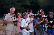 Roger Tory Peterson, left, and Camp Chiricahua kids spot birds in Madera Canyon, Tucson, Arizona..Media Usage:.Subject photograph(s) are copyrighted Edward McCain. All rights are reserved except those specifically granted by McCain Photography in writing...McCain Photography.211 S 4th Avenue.Tucson, AZ 85701-2103.(520) 623-1998.mobile: (520) 990-0999.fax: (520) 623-1190.http://www.mccainphoto.com.edward@mccainphoto.com.