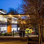 Kristiansand  20161205.<br /> To personer skal v&aelig;re knivstukket ved Wilds Minne skole i Kristiansand.<br /> Foto: Tor Erik Schr&oslash;der / NTB scanpix