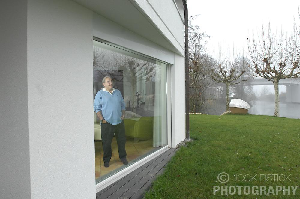 ZURICH,  SWITZERLAND - DEC-15-2006 - Hans-Peter Fassler at his water-front home near Zurich. (PHOTO © JOCK FISTICK)