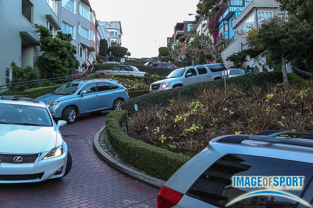 Dec 29, 2012; San Francisco, CA, USA; General view of Lombard Street in San Francisco before the 2012 Kraft Fighting Hunger Bowl at AT&T Park.
