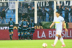 Foto LaPresse/Filippo Rubin<br /> 12/05/2019 Ferrara (Italia)<br /> Sport Calcio<br /> Spal - Napoli - Campionato di calcio Serie A 2018/2019 - Stadio &quot;Paolo Mazza&quot;<br /> Nella foto: ESULTANZA GOAL ALLAN (NAPOLI)<br /> <br /> Photo LaPresse/Filippo Rubin<br /> May 12, 2019 Ferrara (Italy)<br /> Sport Soccer<br /> Spal vs Napoli - Italian Football Championship League A 2018/2019 - &quot;Paolo Mazza&quot; Stadium <br /> In the pic: CELEBRATION GOAL ALLAN (NAPOLI)