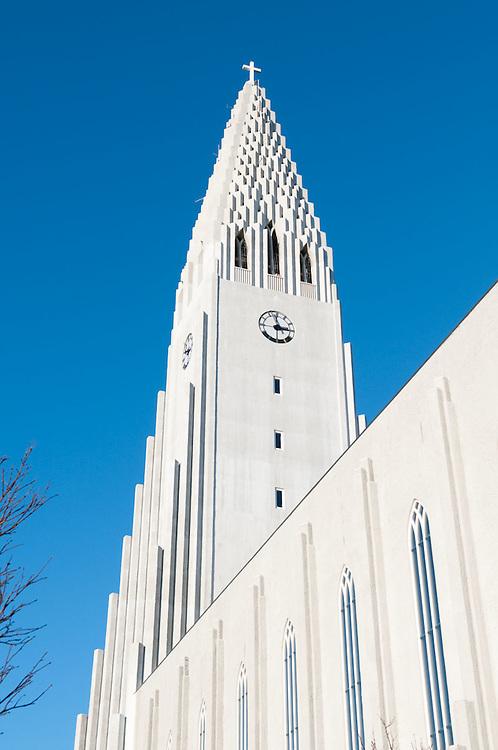 Exterior, Hallgrímskirkja church, Reykjavik, Iceland.