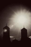Lisa Johnston   lisa@aeternus.com Belltowers of the Shrine of St. Joseph in St. Louis.