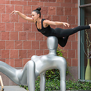 Diavolo Dance Theatre performs at Childern's Hospital on September 8, 2014 in Los Angeles, California.