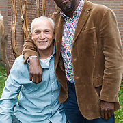 NLD/Amsterdam/20131017 - Persviewing Welkom bij de Kamara's, Dick Jol en Dennis Rudge