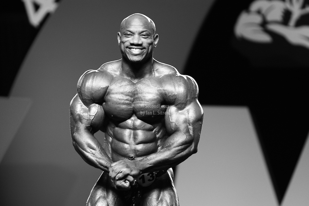 Dexter Jackson competing at the 2010 Mr. Olympia finals in Las Vegas.