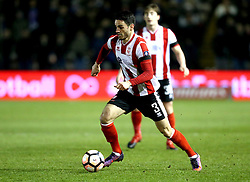 Samuel Habergham of Lincoln City runs with the ball  - Mandatory by-line: Robbie Stephenson/JMP - 17/01/2017 - FOOTBALL - Sincil Bank Stadium - Lincoln, England - Lincoln City v Ipswich Town - Emirates FA Cup third round replay
