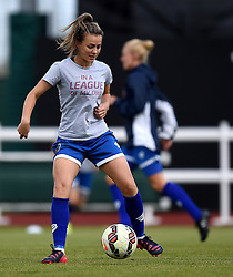 Georgia Evans of Bristol Academy Women warms up before the FAWSL Continental Tyres Cup game between Bristol Academy Women and Liverpool Ladies on 13 September 2015 in Bristol, England - Mandatory by-line: Paul Knight/JMP - Mobile: 07966 386802 - 13/09/2015 -  FOOTBALL - Stoke Gifford Stadium - Bristol, England -  Bristol Academy Women v Liverpool Ladies FC - FA WSL Continental Tyres Cup
