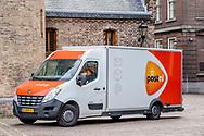 den haag - een post nl bus op het binnenhof in den haag ROBIN UTRECHT