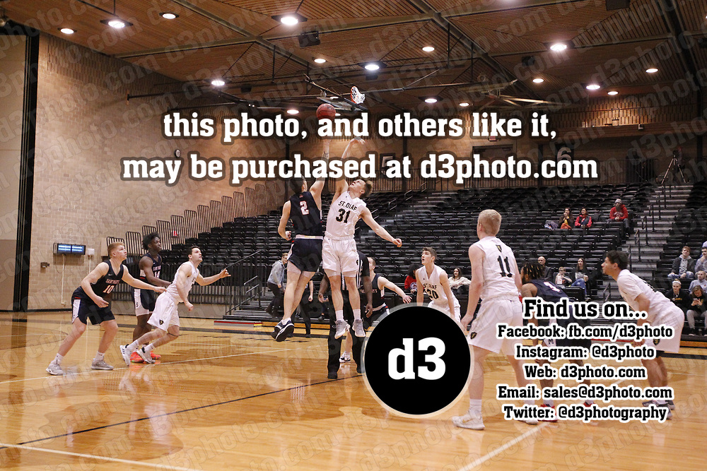 Men's Basketball: St. Olaf College Oles vs. Saint Mary's University of Minnesota Cardinals