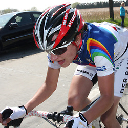 Sportfoto archief 2006-2010<br /> 2009<br /> Womensrace, Marianne Vos tries to get out of the groupe after the Bosberg.