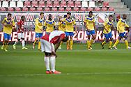 15-08-2016: Voetbal: Jong FC Utrecht v FC Dordrecht: Utrecht<br /> <br /> (L-R) FC Dordrecht speler Jafar Arias heeft gescoord (1-1) tijdens het Jupiler League duel tussen Jong FC Utrecht en FC Dordrecht in stadion Galgenwaard op 15 augustus in speelronde 2 te Utrecht<br /> <br /> Jupiler League - Seizoen 2016 / 2017<br /> <br /> Foto: Gertjan Kooij