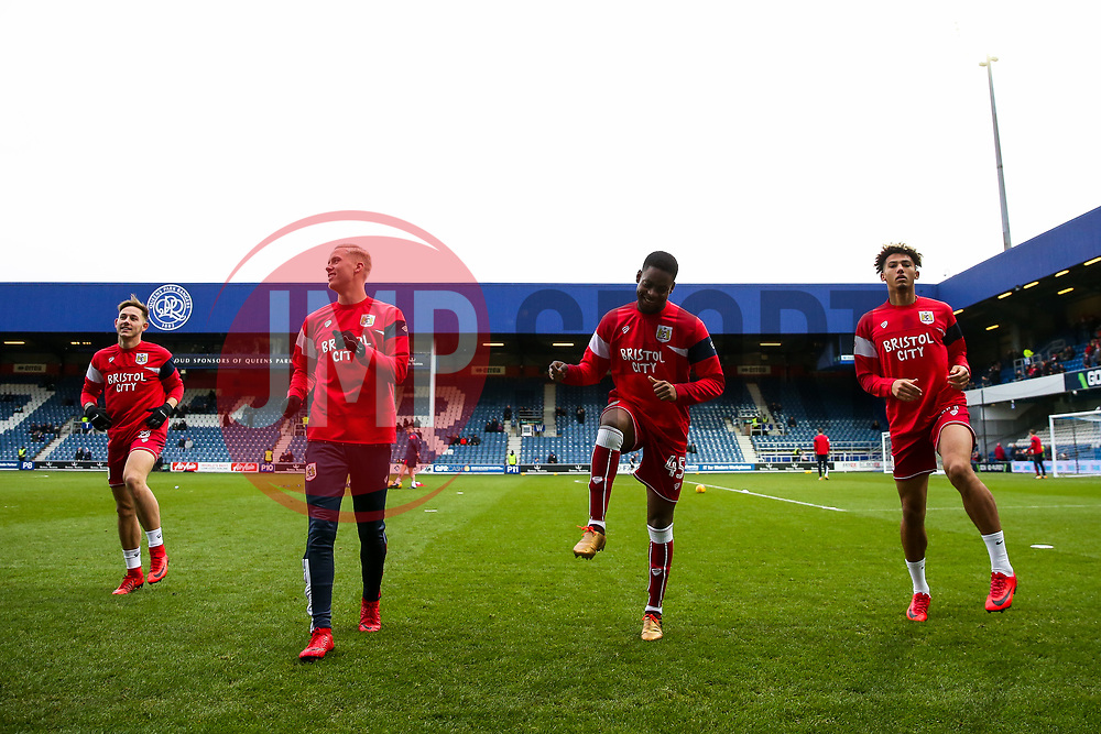 Jonathan Leko in action as Bristol City warm up - Rogan/JMP - 23/12/2017 - Loftus Road - London, England - Queens Park Rangers v Bristol City - Sky Bet Championship.