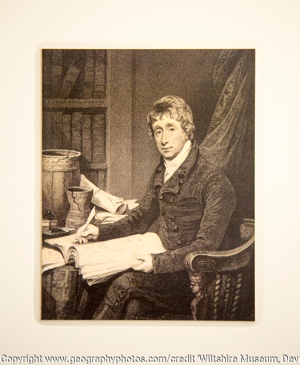 Portrait of Sir Richard Colt Hoare 1758-1838. Wth permission of Wiltshire Museum, Devizes, England, UK