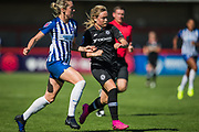 Megan Connolly (Brighton) & Erin Cuthbert (Chelsea) during the FA Women's Super League match between Brighton and Hove Albion Women and Chelsea at The People's Pension Stadium, Crawley, England on 15 September 2019.