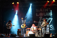 Dibaté (second from left) and french band called Wato. 21st International Jazz Festival in Saint Louis, Senegal, May 15 - 19, 2013.