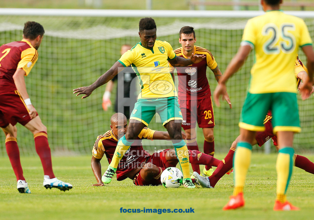Alex Tettey of Norwich City during the pre-season friendly match between FK Dukla Prague and Norwich City at Well Welt Stadion , Kumberg<br /> Picture by EXPA Pictures/Focus Images Ltd 07814482222<br /> 20/07/2016<br /> <br /> <br /> EXPA-IES-160720-0023.jpg