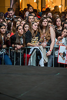 LYON, FRANCE - FEBRUARY 11: R&B French singer Matt Pokora attends public showcase organized by Radio Scoop at Part-Dieu shopping center on February 11, 2015 in Lyon, France. <br />