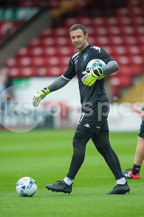 Paul Rachubka of Bury warms up ahead of  the EFL Sky Bet League 1 match between Walsall and Bury at the Banks's Stadium, Walsall, England on 27 August 2016. Photo by Darren Musgrove.
