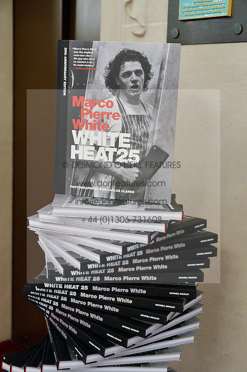 Branding at lunch at a lunch hosted by Fortnum & Mason, Piccadilly, London on 29th January 2015 in honour of Marco Pierre White and the publication of White Heat 25.