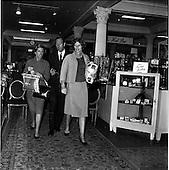 1963 - Mrs Eunice Shriver shopping in Brown Thomas, Dublin