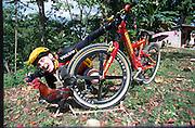Trials superstar Libor Karas in Dominican Republic