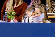 AMSTERDAM - 29-1-2017 - Princess Margarita de Bourbon de Parme and Tjalling ten Cate and Julia (l) en Paola right . during Jumping Amsterdam, an international equestrian event with World Cup dressage and jumping competitions, in the RAI in Amsterdam. copyright robin utrecht<br /> Prinses Margarita de Bourbon de Parme en Tjalling ten Cate en Julia (l) en Paola rechts. tijdens Jumping Amsterdam, een internationale hippische evenement met World Cup dressuur en springen wedstrijden, in de RAI in Amsterdam.