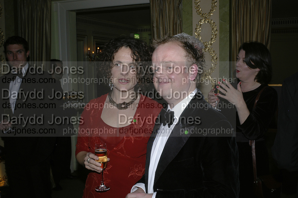 Karen Walton and Toby Jones, Cocktail party before the  27th Annual London Film Critics' Circle Awards. In aid of the NSPCC. Dorchester. 8 February 2007.  -DO NOT ARCHIVE-© Copyright Photograph by Dafydd Jones. 248 Clapham Rd. London SW9 0PZ. Tel 0207 820 0771. www.dafjones.com.