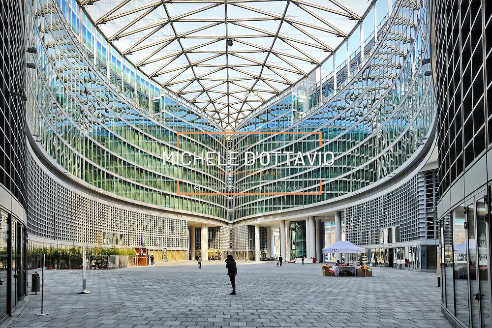 Milano, il grattacielo Palazzo Lombardia è alto 161,3 metri. Vi ha sede la Giunta regionale della Lombardia.
