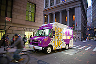 AMEX Popcorn Truck. Date: April 16, 2013. Location: Williams and Wall St, NYC. Photographer: Margarita Corporan