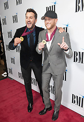 Nov. 13, 2018 - Nashville, Tennessee; USA - Musicians LUKE BRYAN and COLE SWINDELL  attends the 66th Annual BMI Country Awards at BMI Building located in Nashville.   Copyright 2018 Jason Moore. (Credit Image: © Jason Moore/ZUMA Wire)