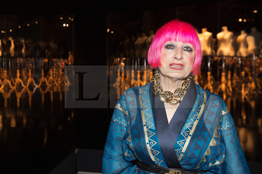 © Licensed to London News Pictures. 05/06/2013. London, England. Fashion Designer Zandra Rhodes attends the Gala Show at Earl's Court 2. Graduate Fashion Week 2013 showcasing student collections took place at Earl's Court II from 2 to 5 June 2013. Photo credit: Bettina Strenske/LNP