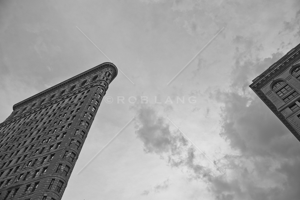 Flatiron Building and Corner of an ajacent building in New York City