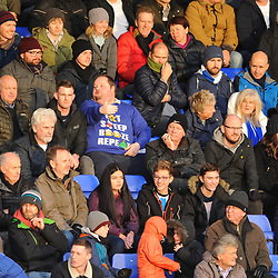 TELFORD COPYRIGHT MIKE SHERIDAN 22/12/2018 - Chester fans during the Vanarama Conference North fixture between Chester FC and AFC Telford United at the Swansway Deva Stadium, Chester.