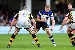 Tom Ellis of Bath Rugby in possession - Mandatory byline: Patrick Khachfe/JMP - 07966 386802 - 04/03/2017 - RUGBY UNION - The Recreation Ground - Bath, England - Bath Rugby v Wasps - Aviva Premiership.