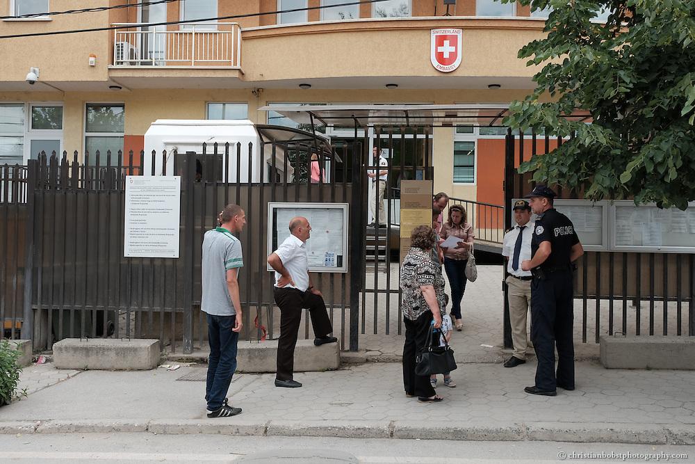 Die Schweizer Botschaft in Pristina