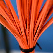Nederland Rotterdam 14 oktober 2008 20081014 Foto: David Rozing ..data kabels in serverruimte servicedienst gemeente Rotterdam .Foto: David Rozing