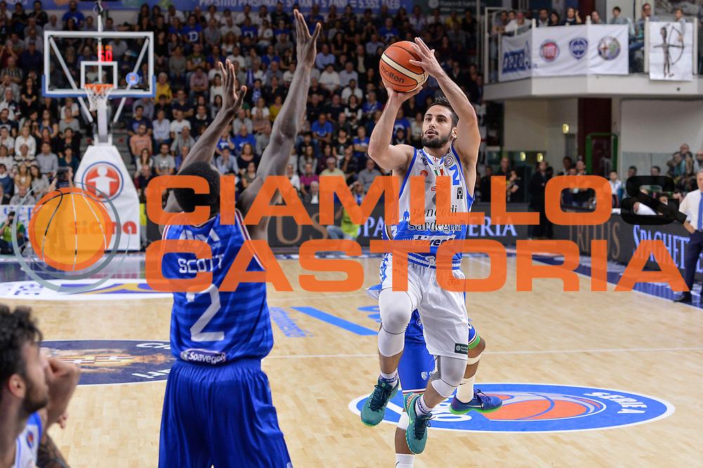 DESCRIZIONE : Beko Legabasket Serie A 2015- 2016 Dinamo Banco di Sardegna Sassari - Enel Brindisi<br /> GIOCATORE : Rok Stipcevic<br /> CATEGORIA : Tiro<br /> SQUADRA : Dinamo Banco di Sardegna Sassari<br /> EVENTO : Beko Legabasket Serie A 2015-2016<br /> GARA : Dinamo Banco di Sardegna Sassari - Enel Brindisi<br /> DATA : 18/10/2015<br /> SPORT : Pallacanestro <br /> AUTORE : Agenzia Ciamillo-Castoria/L.Canu